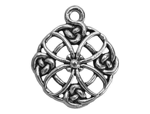 Celtic Cross 1 inch Pewter Pendant Antique Silver Color