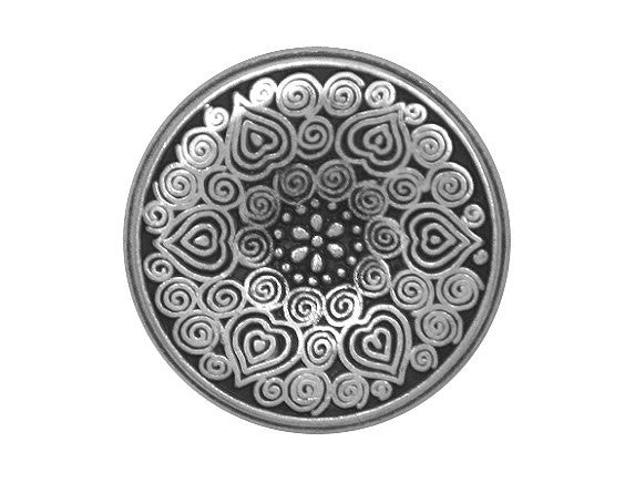 Midsummer 13/16 inch Metal Button Antique Silver Color