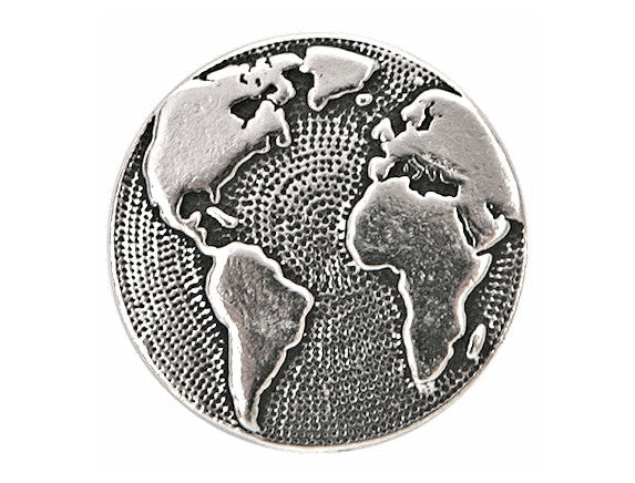 TierraCast Earth 5/8 inch Pewter Button Silver Plated