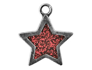 Danforth Red Star 7/8 inch Pewter Charm