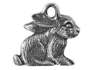 Danforth Rabbit 3/4 inch Pewter Charm