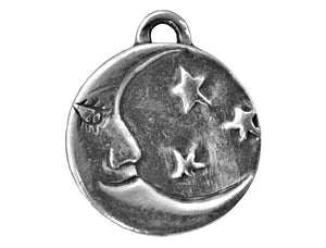 Danforth Man in the Moon 13/16 inch Pewter Pendant