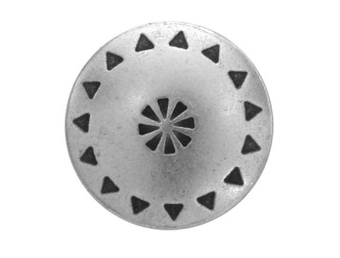 Tribal Shield 5/8 inch Metal Button Antique Silver Color