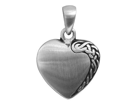 Olavi Celtic Elegance Heart Pewter Pendant Antique Silver Color