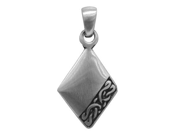 Olavi Celtic Elegance Diamond</br> Large Pewter Pendant</br> Antique Silver Color