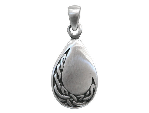 Olavi Celtic Elegance Teardrop Pewter Pendant Antique Silver Color