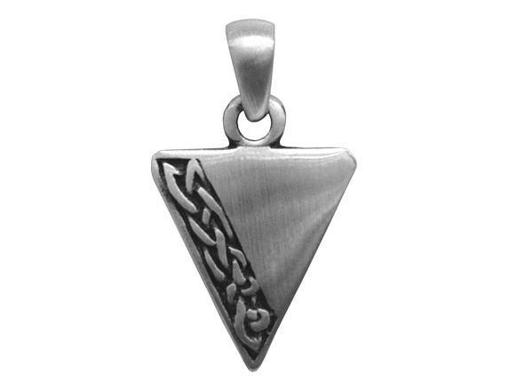 Olavi Celtic Elegance Inverted Triangle Pewter Pendant Antique Silver Color