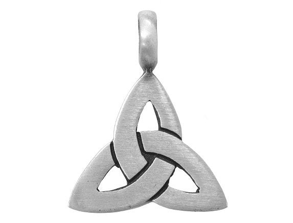 Olavi Celtic Trinity Knot Pewter Pendant Antique Silver Color