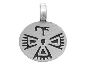 Olavi Oval Thunderbird Pewter Pendant Antique Silver Color
