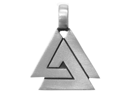 Olavi Viking Valknut Pewter Pendant Antique Silver Color