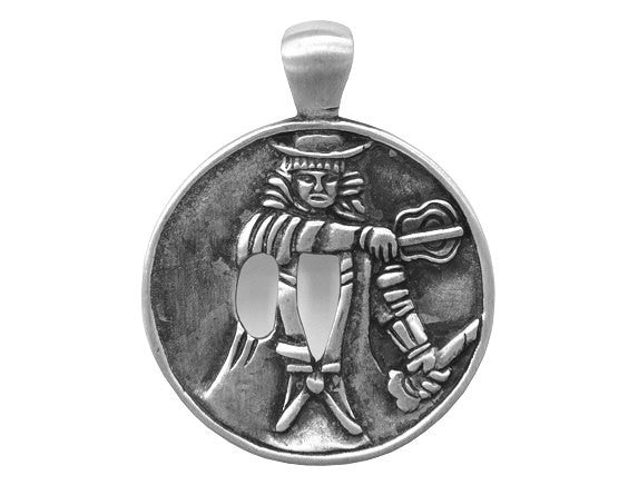Olavi Way of the Warrior Baton Strike Pewter Pendant Antique Silver Color