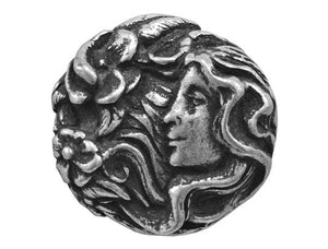 Blackhawk Goddess 15/16 inch Pewter Button Antique Silver Color