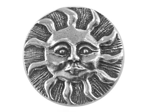 Danforth Sun<br> 7/8 inch Pewter Button<br> Antique Silver Color
