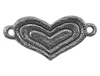 Green Girl Heart Centerpiece Large Pewter Link Antique Silver Color