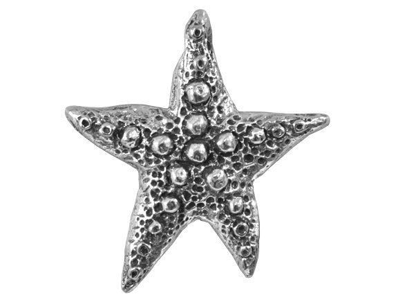 Green Girl Starfish Wish Large Pewter Pendant Antique Silver Color