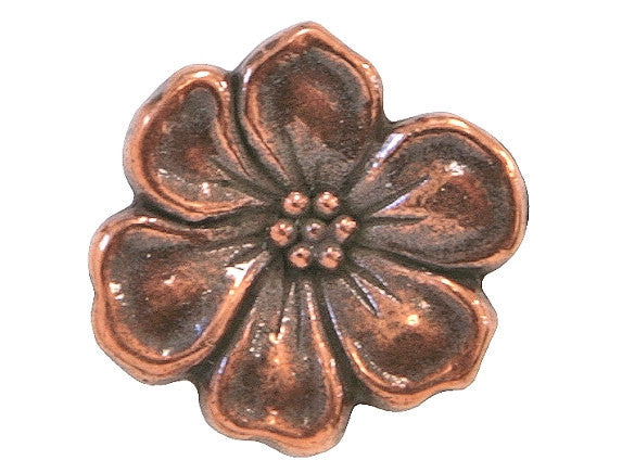 TierraCast Apple Blossom 5/8 inch Pewter Button Copper Plated
