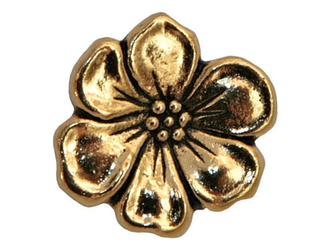 TierraCast Apple Blossom 5/8 inch Pewter Button Gold Plated