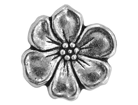 TierraCast Apple Blossom 5/8 inch Pewter Button Silver Plated