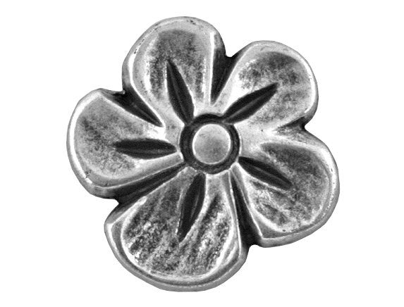 Blossom 9/16 inch Metal Button Antique Silver Color