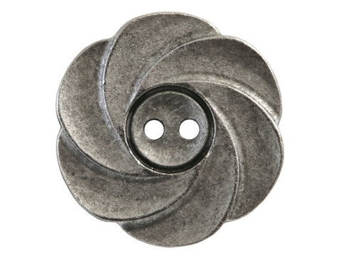 Susan Clarke Fiona 1 inch Metal Button Antique Silver Color