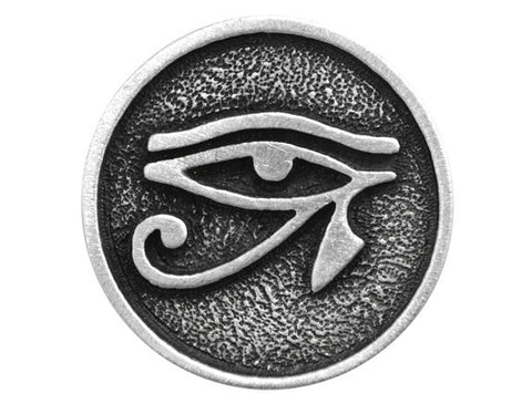 TreasureCast Eye of Horus 15/16 inch Pewter Button Antique Silver Color
