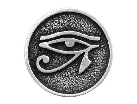 TreasureCast Eye of Horus 13/16 inch Pewter Button Antique Silver Color