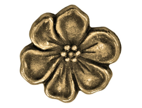 TierraCast Apple Blossom<br> 5/8 inch Pewter Button<br> Brass Plated