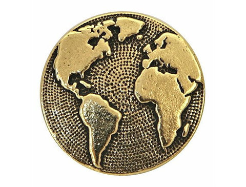 TierraCast Earth 5/8 inch Pewter Button Gold Plated