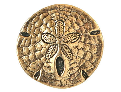 TierraCast Sand Dollar<br> 11/16 inch Pewter Button<br> Gold Plated