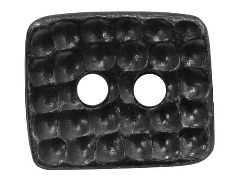 TierraCast Hammertone Rectangle<br> 5/8 inch Pewter Button<br> Black Plated