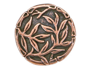 TierraCast Bamboo 5/8 inch Pewter Button Copper Plated
