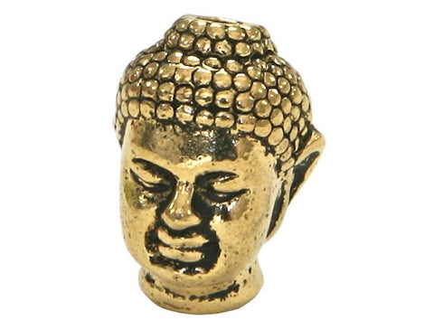TierraCast Buddha 1/2 inch Gold Plated Pewter Bead