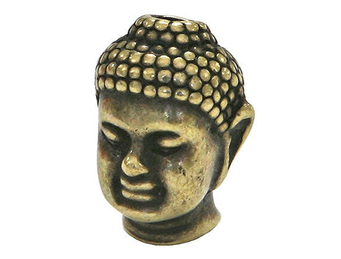 TierraCast Buddha 1/2 inch Brass Plated Pewter Bead