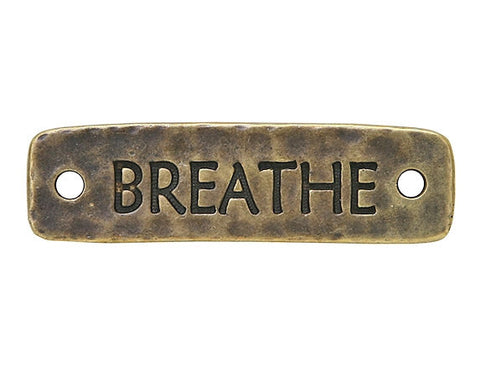 TierraCast Breathe<br> Large Pewter Link<br> Brass Plated