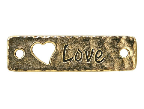 TierraCast Love<br> Large Pewter Link<br> Gold Plated