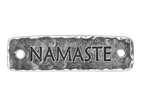 TierraCast Namaste Large Pewter Link Silver Plated