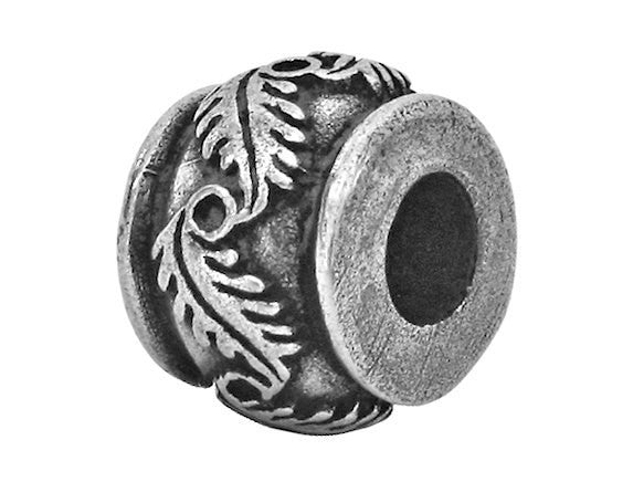 Danforth Fern 3/8 inchPewter Bead Antique Silver Color