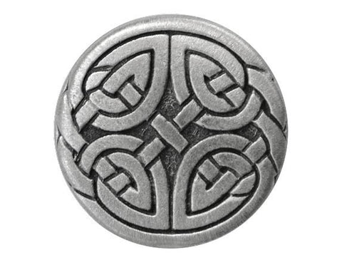 TreasureCast Eternal Knot 13/16 inch Pewter Button Antique Silver Color