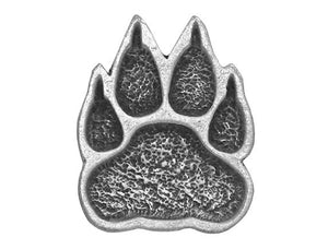 TreasureCast Paw 5/8 inch Pewter Button Antique Silver Color
