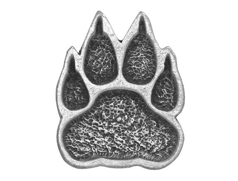 TreasureCast Paw<br> 5/8 inch Pewter Button<br> Antique Silver Color