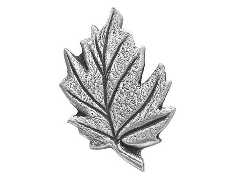 TreasureCast Leaf 1 inch Pewter Button Antique Silver Color