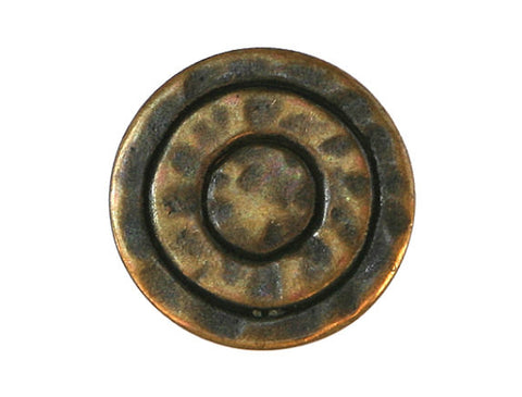 Mystic Rings 7/16 inch Metal Button Antique Brass Color
