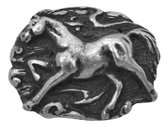 Blackhawk Galloping Horse 1 inch Pewter Button Antique Silver Color