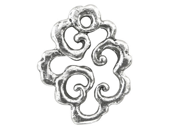 Green Girl Cumulus<br> Large Pewter Pendant Link<br> Antique Silver Color