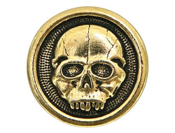 TierraCast Scary Skull 5/8 inch Pewter Button Gold Plated