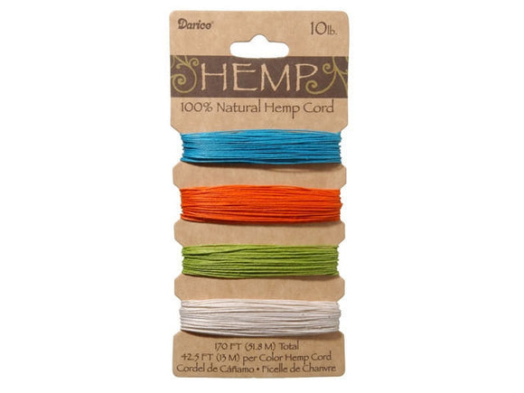 Hemp Cord Assorted Bright Color Set ( 10 lb 170 feet )