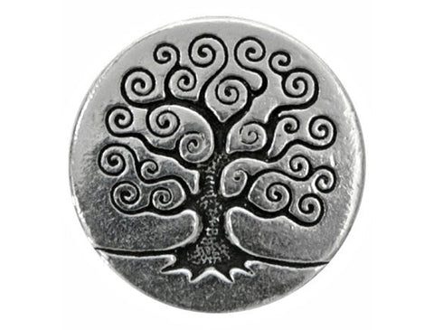 TierraCast Tree of Life 5/8 inch Pewter Button Silver Plated