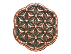 TierraCast Flower of Life 5/8 inch Pewter Button Copper Plated
