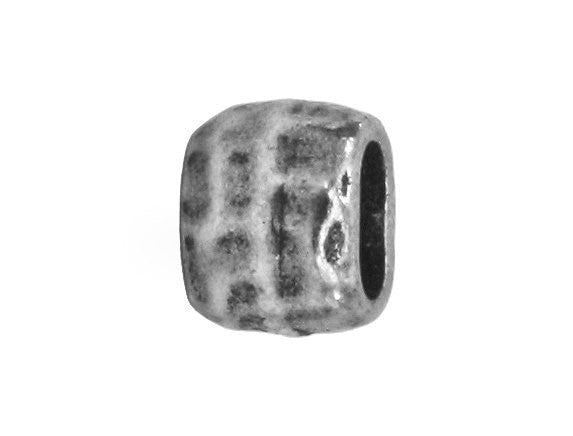 TierraCast Hammered Barrel 1/4 inch Pewter Euroo Bead