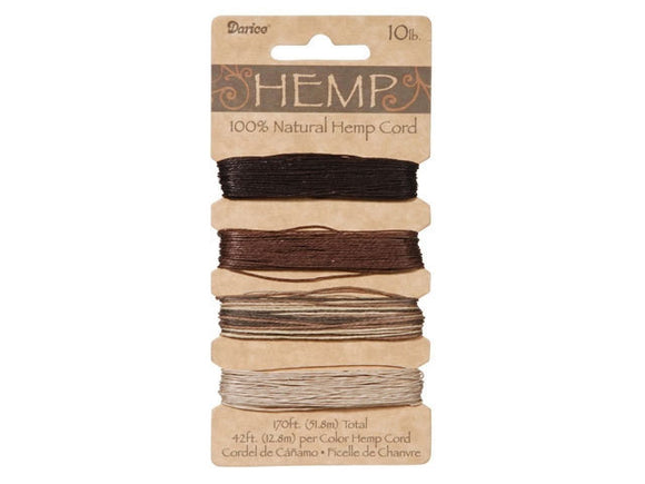 Hemp Cord Assorted Earthy Color Set ( 20 lb 120 feet )